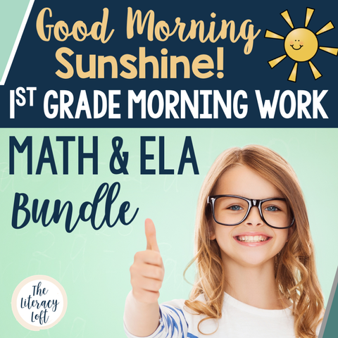 ELA + Math Morning Work 1st Grade {The Bundle} | Distance Learning | Google Slides
