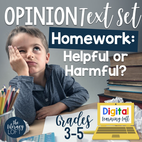 Opinion Text Set {Homework} | Distance Learning | Google Slides