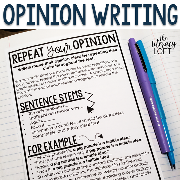 Opinion Writing Unit (Grades 3-5)