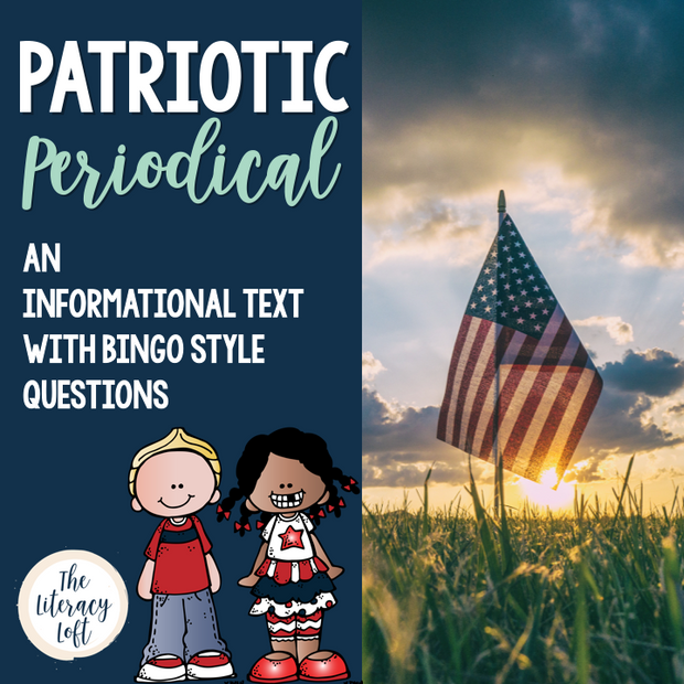 Memorial Day & Fourth of July Informational Text {Newspaper Style Bingo}