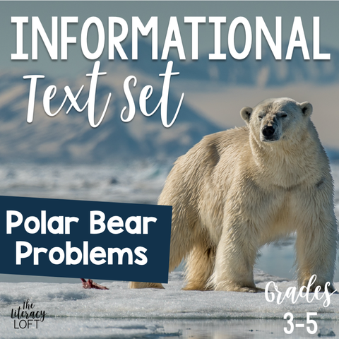 Informational Text Set {Polar Bear Problems} | Distance Learning | Google Apps
