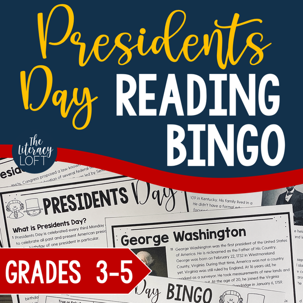 Presidents' Day Reading Bingo