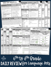 ELA Daily Review 6th - 8th Grade (Bundle) | Distance Learning | Google Slides