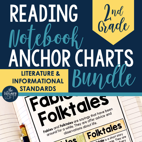 Reading Notebook Anchor Charts 2nd Grade (GROWING BUNDLE)