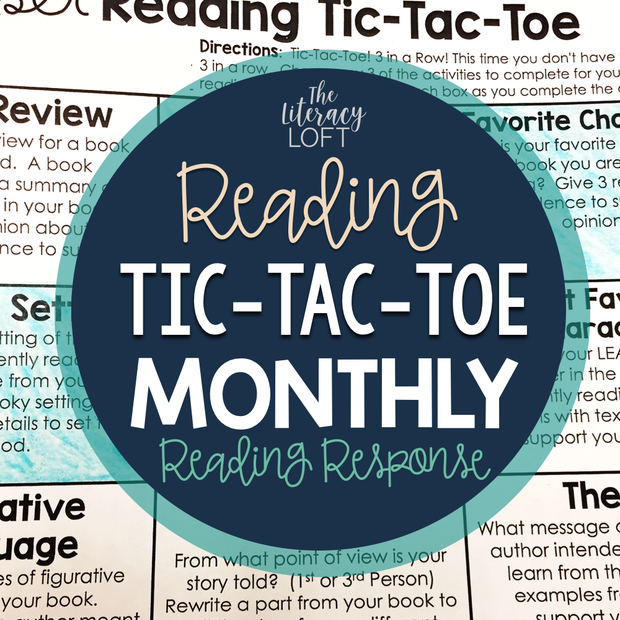 Reading Tic Tac Toe (Monthly Reading Response) | Distance Learning | Google Slides