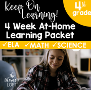 4 Week At Home Learning Packet (4th Grade) | Distance Learning | Google Slides