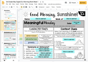 ELA Morning Work 3rd Grade (Bundle) | Distance Learning | Google Slides