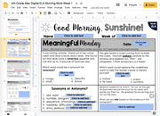 ELA Morning Work 4th Grade {May} | Distance Learning | Google Slides