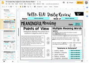 ELA Daily Review 7th Grade {May} | Distance Learning | Google Slides