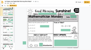 Math Morning Work 1st Grade {June} | Distance Learning | Google Slides