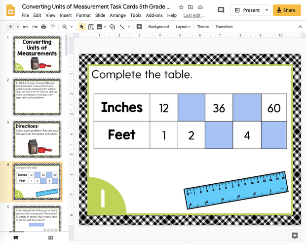 Converting Units of Measurement Task Cards (5th Grade) | Distance Learning