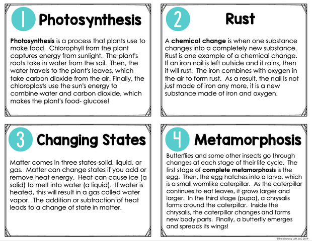 Text Structure Task Cards {Scientific Concepts} | Distance Learning | Google Slides and Forms