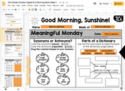 ELA Morning Work 2nd Grade {October} | Distance Learning | Google Slides