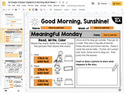 1st Grade ELA Morning Work (October) | Distance Learning | Google Slides