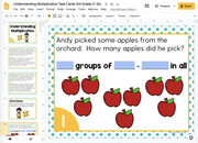 Understanding Multiplication Task Cards (3rd Grade) Google Slides & Forms
