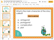 Story Elements Task Cards 6th Grade | Distance Learning | Google Slides & Forms