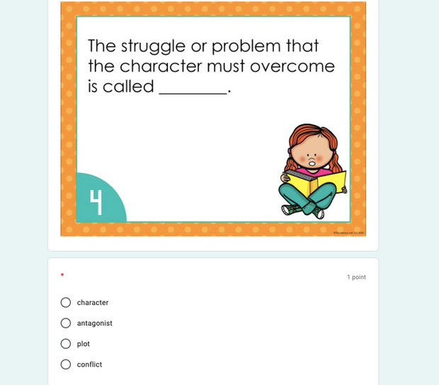 ELA Task Cards 6th Grade Bottomless Bundle | Google Slides & Forms