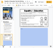 Informational Text Set {Equality in Education}