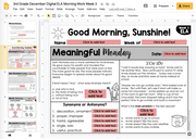 ELA Morning Work 3rd Grade {December} I Distance Learning I Google Slides