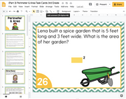 Perimeter and Area Math Task Cards (3rd Grade) Google Slides and Forms