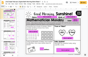 Math Morning Work 2nd Grade {February} I Distance Learning I Google Slides