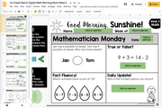 Math Morning Work Grades 1-5 {Bundle} | Distance Learning | Google Slides