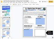 Earth Day Recycling Project-Writing a Procedural How-To Text + Google Slides Version