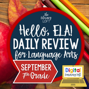 ELA Daily Review 7th Grade {September} | Distance Learning | Google Slides