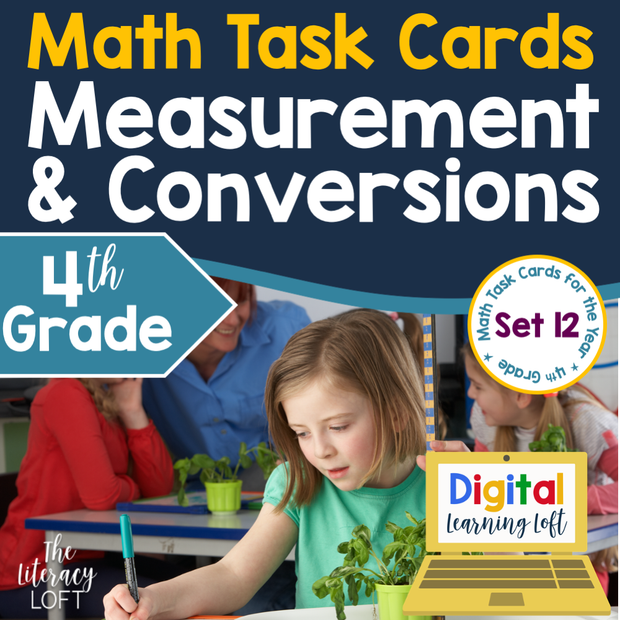 Measurement and Conversions Task Cards (4th Grade) Google Slides and Forms Distance Learning