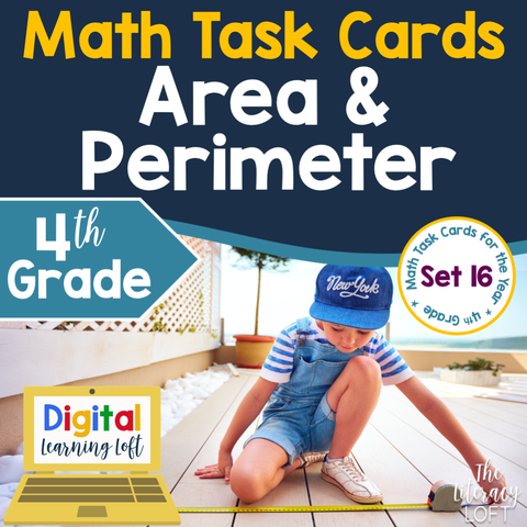 Area and Perimeter Task Cards (4th Grade) Google Slides and Forms Distance Learning