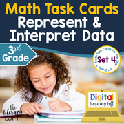 Represent and Interpret Data Task Cards (3rd Grade) Google Slides & Forms