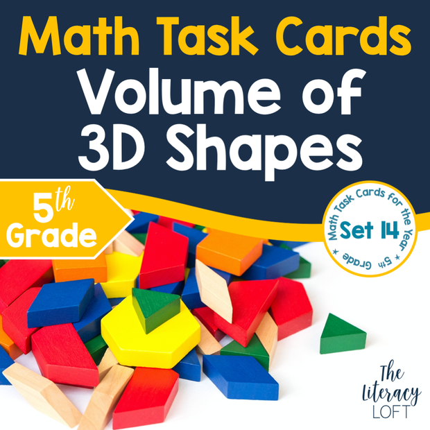 Volume of 3D Shapes Task Cards (5th Grade)