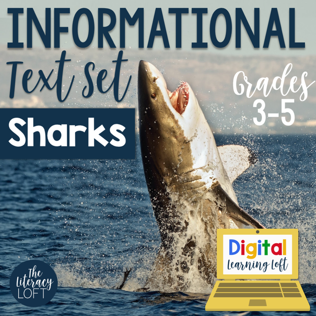 Informational Text Set {Sharks} | Distance Learning | Google Slides