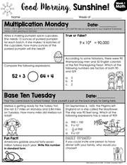 Math Morning Work 5th Grade {November} | Distance Learning | Google Slides