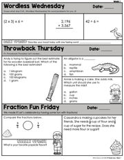 Math Morning Work 3rd Grade {June} | Distance Learning | Google Slides
