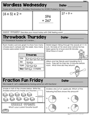 Math Morning Work 4th Grade {August} | Distance Learning | Google Slides