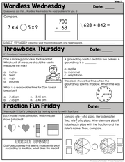 Math Morning Work 3rd Grade {February} I Distance Learning I Google Slides