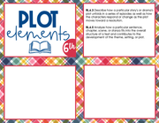 Plot Elements Task Cards 6th Grade | Distance Learning | Google Slides & Forms