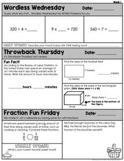 Math Morning Work 5th Grade {September} | Distance Learning | Google Slides