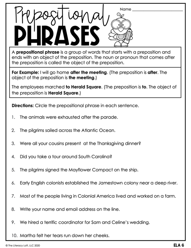 November Learning Packet 5th Grade I Google Slides and Print