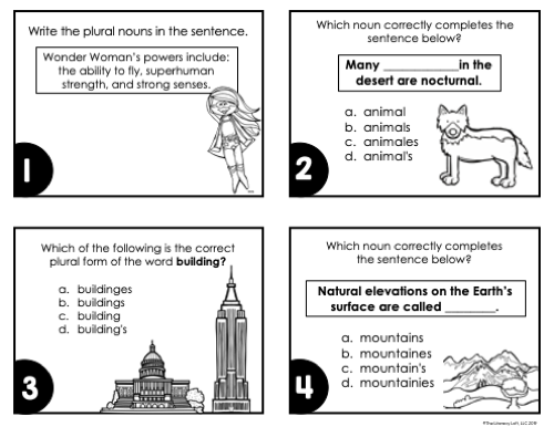 Nouns Task Cards | Distance Learning | Google Slides & Forms