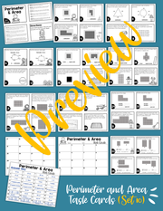 Math Task Cards for the Year Bundle (3rd Grade)