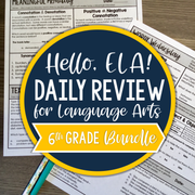 ELA Daily Review 6th Grade