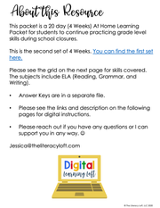 Summer Learning Packet 5th Grade | Google Slides + Print