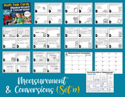 Measurement and Conversions Task Cards (4th Grade)