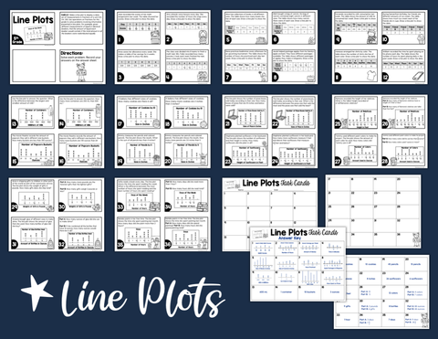 Line Plots Task Cards (5th Grade) | Distance Learning