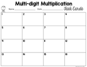 Multi-digit Multiplication Task Cards (5th Grade) | Distance Learning | Google Apps