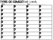 Types of Conflict Task Cards 6th Grade | Distance Learning | Google Slides & Forms
