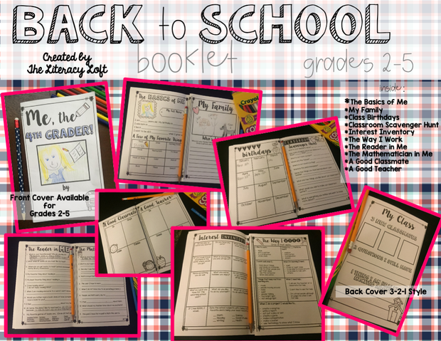 Back to School Booklet {First Week Activities for Grades 2-5} | Distance Learning | Google Slides