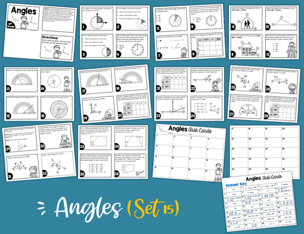 Angles Math Task Cards (4th Grade)